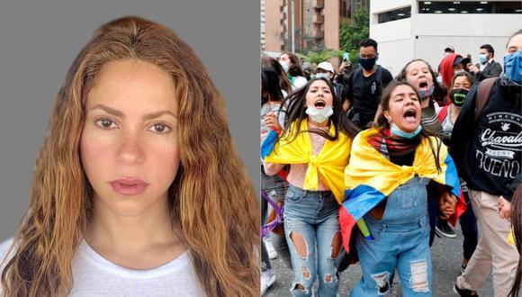 Shakira se pronuncia por la represión a las protestas en Colombia. (Foto: @shakira/AFP).