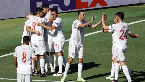 España goleó a Eslovaquia por la fecha 3 de la fase de grupos de la Eurocopa 2021. (Foto: EFE)