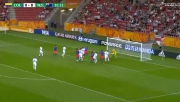Reyes puso el primero en el Colombia vs Nueva Zelanda por octavos del Mundial Sub 20