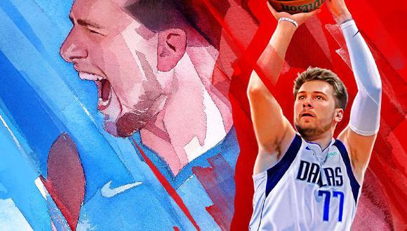 Doncic en la portada del simulador de la NBA