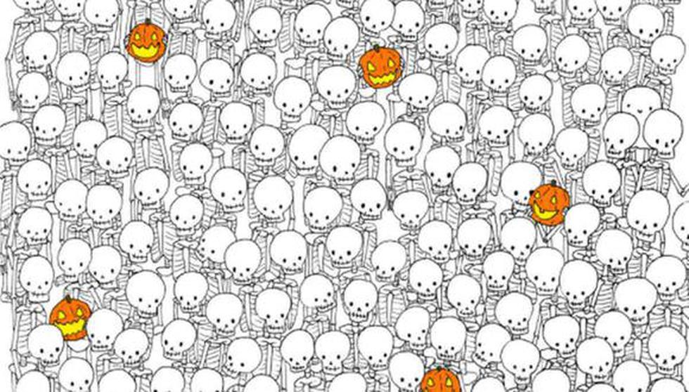 Encuentra al fantasma entre los esqueletos de este reto viral que se ha vuelto tendencia. (Foto: @thedudolf / Facebook)