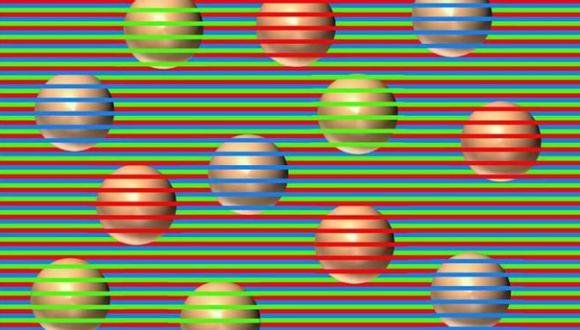 Esta ilusión óptica nos presenta una esfera multicolor que se volvió viral en Estados Unidos. Vamos a apreciar diversos colores y jugar con tu imaginación.