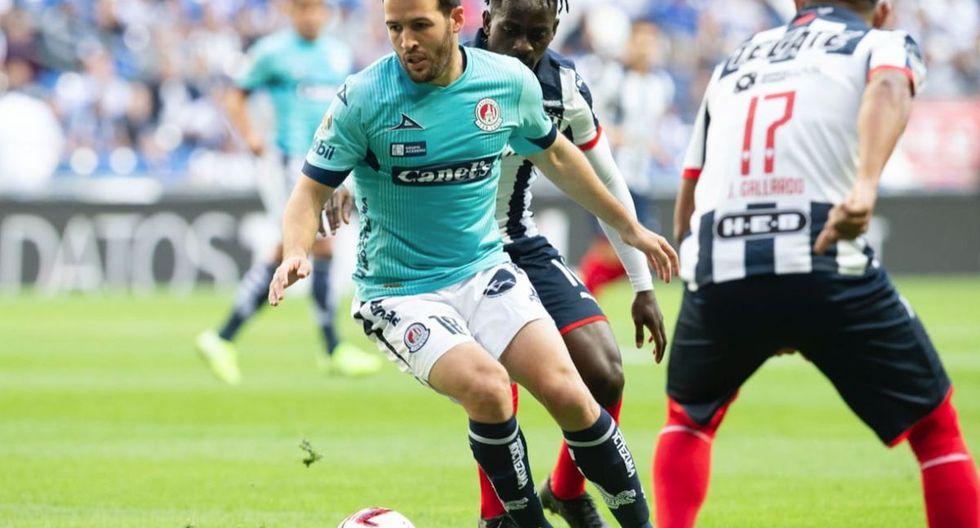 Monterrey empató 2-2 contra San Luis por la jornada 9 del Clausura 2020 de la Liga MX. (Foto: Twitter)
