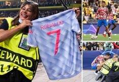 Cristiano Ronaldo se disculpó y regaló su camiseta a la agente de seguridad que golpeó casualmente