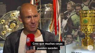 Arjen Robben en busca de una actividad relacionada con el fútbol