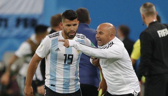 Jorge Sampaoli dirigió a Argentina en el Mundial de Rusia 2018. (Getty)
