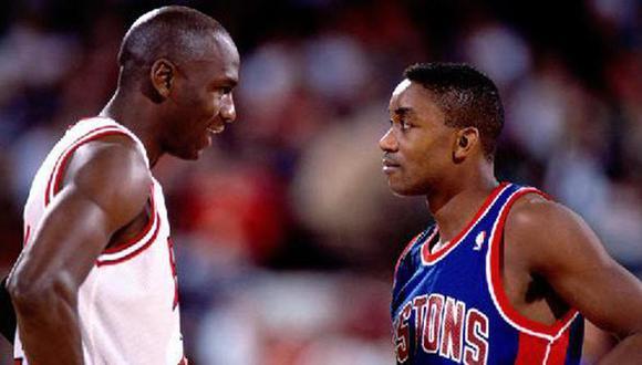Jordan y Thomas tuvieron una mala relación en la NBA. (Foto: NBA)