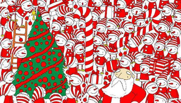 Abre bien los ojos y ubica el gorro de Santa Claus en la ilustración. (Foto: dudolf.com)