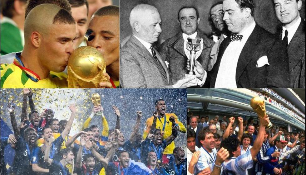 De Uruguay a Francia, así se alzaron las 21 Copas del Mundo. (Fotos: Getty)