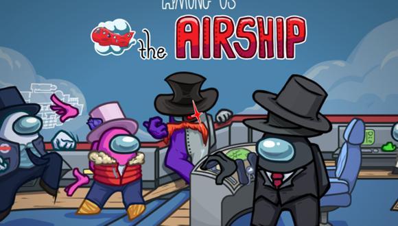 Among Us habilita The Airship, el nuevo mapa, junto a contenido estético. (Foto: Innersloth)