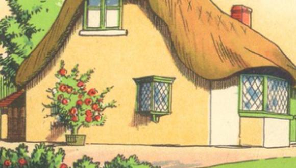 Mira la fotografía de la cabaña en el campo y ubica el error garrafal hecho a propósito. (Pinterest)