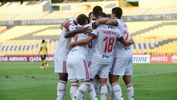 Flamengo se repuso tras la dura derrota ante Independiente del Valle. (Foto: Conmebol)