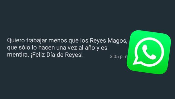 Estos son los mensajes más creativos que puedes enviar a tus amigos por WhatsApp por el Día de los Reyes Magos. (Foto: Depor)