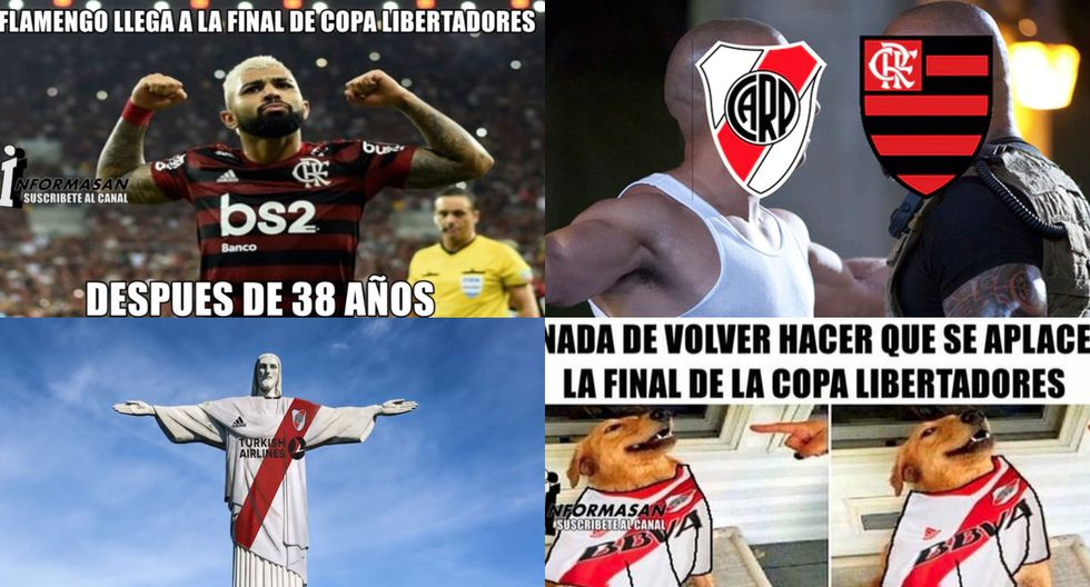 No dejarás de reír: los mejores memes del River Plate-Flamengo por la final de la Copa Libertadores 2019. (Fotos: Facebook)