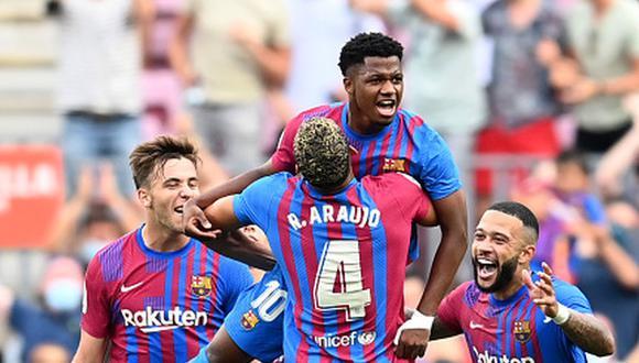 Barcelona ganó 3-0 al Levante con goles de Depay, De Jong y Fati. (Foto: Getty)