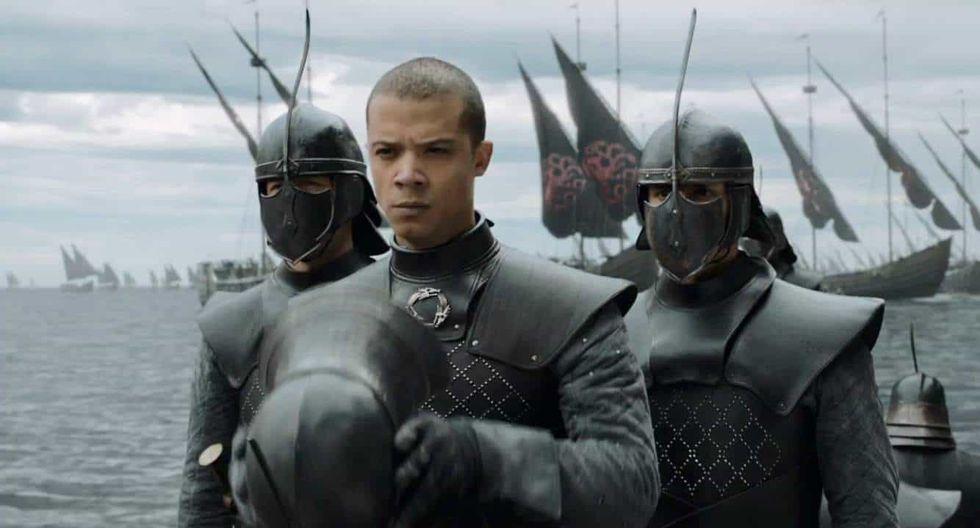 Game of Thrones, fin de temporada: Jacob Anderson comparte detrás de cámaras de los dobles de Gusano Gris (Foto: HBO)