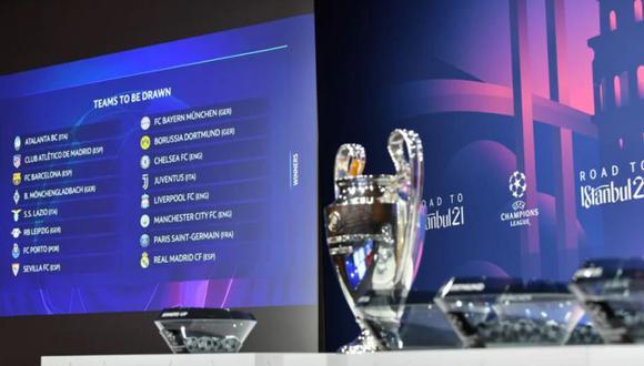 Se sortearon los octavos de final de la Champions League. (Foto: UEFA)