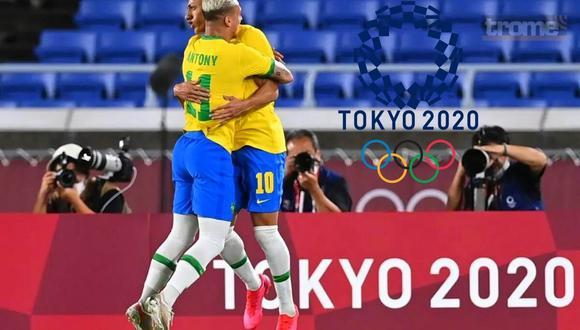 Brasil se impuso 4-2 a Alemania en su debut en Tokio 2020 (Foto AFP)