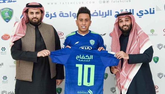 Christian Cueva jugará en Arabia Saudita esta temporada (Foto: @FatehClub)