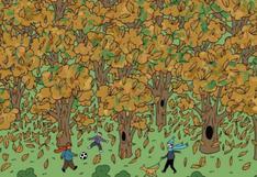 Completa el viral más difícil: Halla la ardilla camuflada en el bosque en solo 20 segundos
