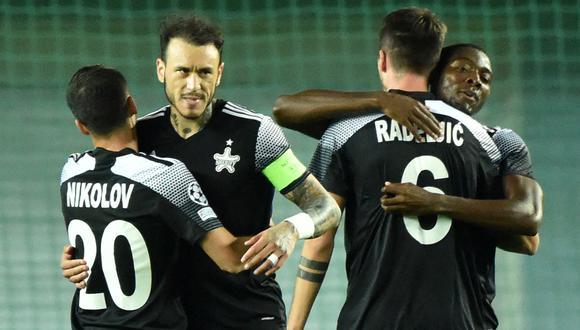 Gustavo Dulanto es el segundo capitán del FC Sheriff. (Photo by Sergei GAPON / AFP)
