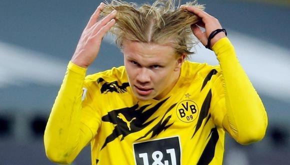 Erling Haaland tiene contrato con el Borussia Dortmund hasta el 2024. (Foto: Reuters)