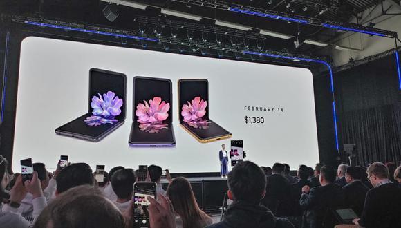 Samsung Galaxy Z Flip. (Foto: El Comercio)
