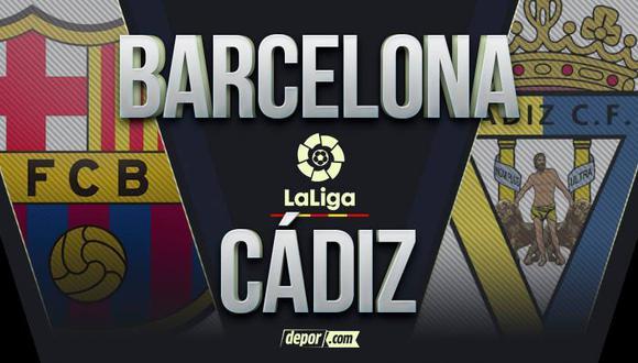 DirecTV: Barcelona vs.  Cádiz EN VIVO en LaLiga Santander