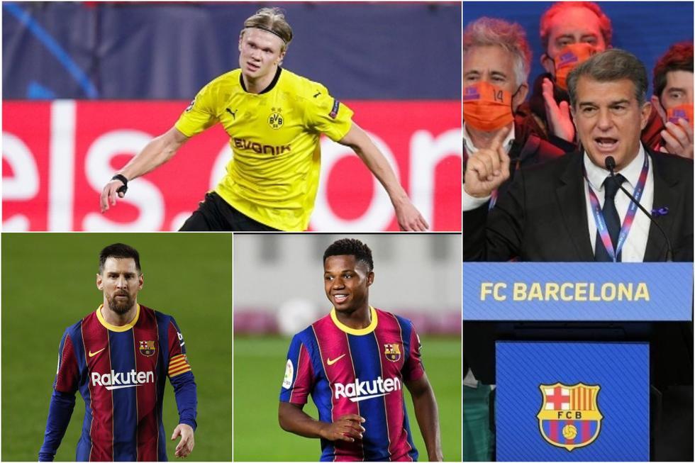 El once que Laporta quiere para el Barcelona en la siguiente temporada. (Getty)