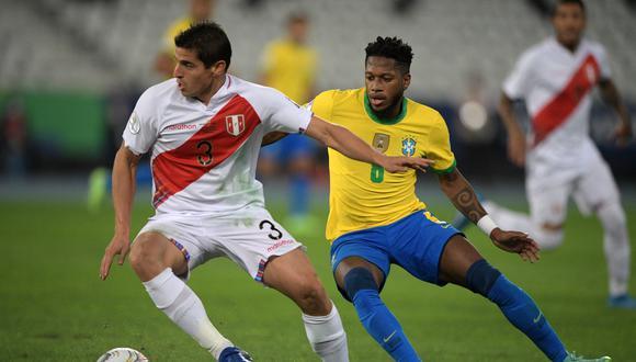 Aldo Corzo acumuló 603 minutos en la Copa América 2021. (Foto: AFP)