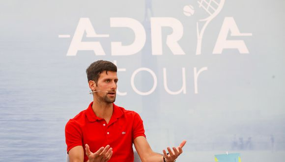 'Nole' durante la conferencia de prensa del 'Adria Tour'. (Foto: Getty Images)