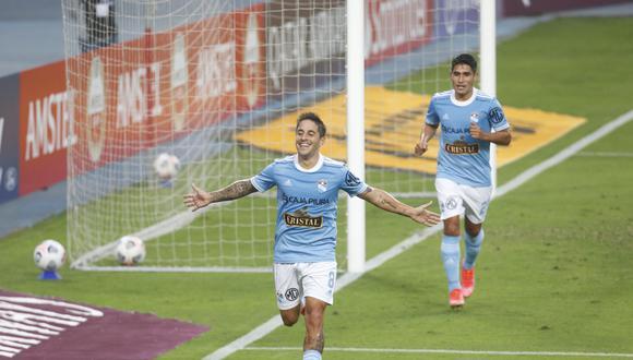 Alejandro Hohberg marcó el primer gol ante Rentistas en el Nacional. (Foto: Violeta Ayasta / @photo.gec)