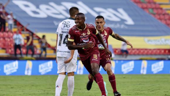 Tolima empató 1-1 con Deportivo Cali por jornada 10 Liga BetPlay en el estadio Murillo Toro. (Foto: Twitter)