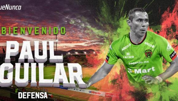 Paul Aguilar llegó a Juárez luego de su paso por el América (Foto: @fcjuarezoficial)