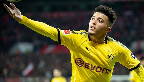 Jadon Sancho llegó al Borussia Dortmund desde el Manchester City. (Getty)