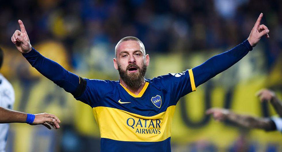 Daniele De Rossi debutó con gol en Boca Juniors por la Copa Argentina. (Getty Images)