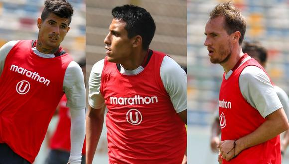 El equipo que Universitario alineó en su primer partido de práctica. (Foto: Prensa 'U')