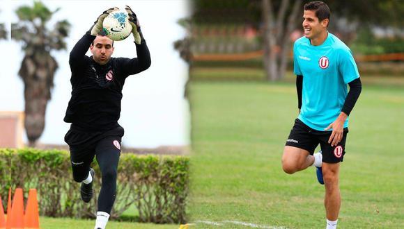 José Carvallo y Aldo Corzo retornaron a los entrenamientos de la 'U' en Campo Mar. (Foto: Twitter)