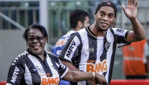 La madre de Ronaldinho Gaúcho falleció a los 71 años víctima del coronavirus. (Foto: Atlético Mineiro)