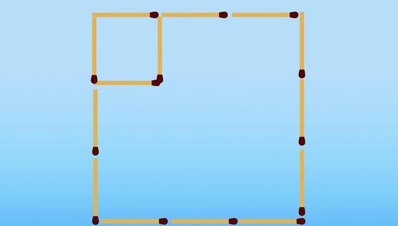 Aquí está la solución de este acertijo visual. Con solo 2 movimientos, se formó dos cuadrados. | Foto: genial.guru