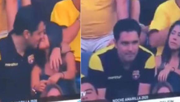 Joven hincha de Barcelona SC fue cazado en infidelidad en la 'Noche Amarilla'. (Twitter)