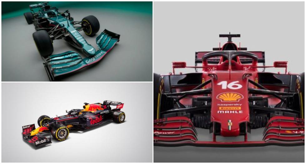 Así lucen los diez monoplazas que correrán en la nueva temporada 2021 de la F1. (F1/Twitter)