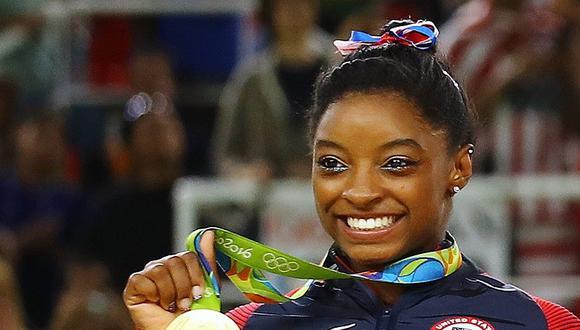 Simone Biles ganó cuatro medallas de oro en los Juegos Olímpicos Río 2016. (Foto: AFP)