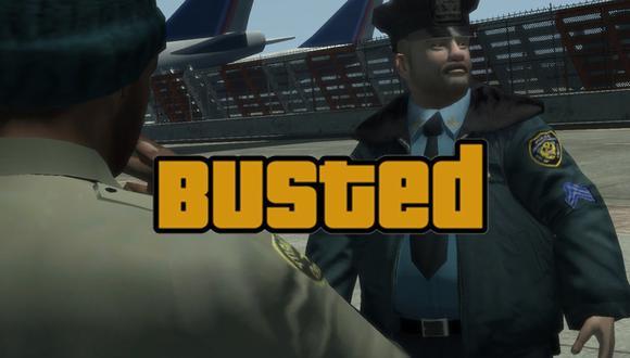 "GTA V ""Busted"" (Foto: Rockstar Games)"