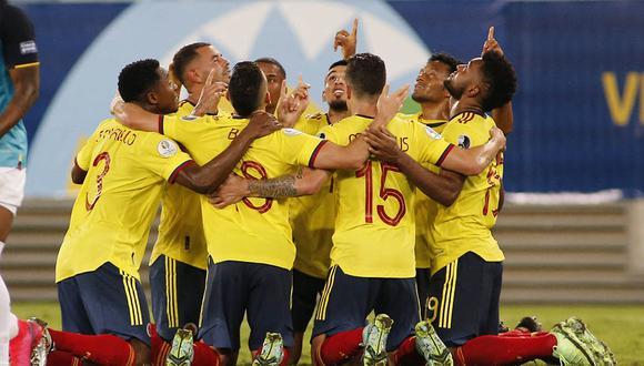 Colombia se quedó con un ajustado triunfo, pero que le permite posicionarse en primer lugar junto con Brasil. | Foto: AFP