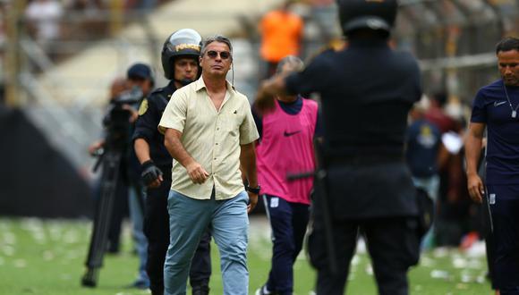Pablo Bengoechea fue expulsado del último clásico ante Universitario de Deportes y Alianza Lima. (FOTO: GEC)