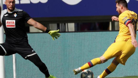 Messi marcó el 2-0 tras pase de Griezmann en el Barcelona vs. Eibar por LaLiga
