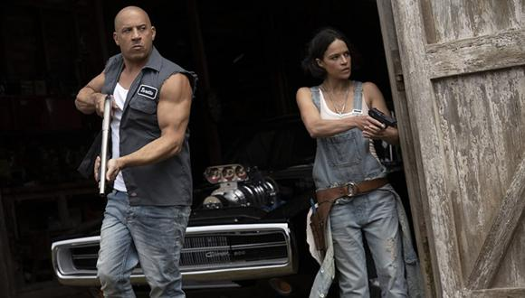 """Vin Diesel y Michelle Rodriguez en una escena de """"F9"""""""