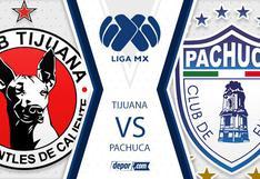 Sigue EN VIVO Tijuana vs. Pachuca EN VIVO minuto a minuto por el Apertura 2020