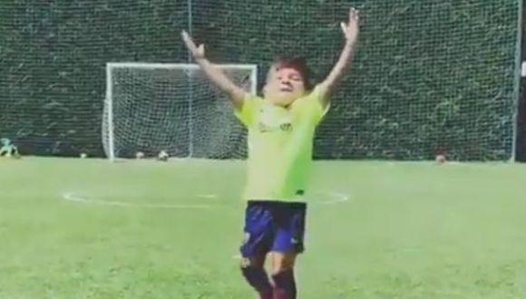 El video de la celebración del segundo hijo de Lionel Messi. (Video: YouTube)